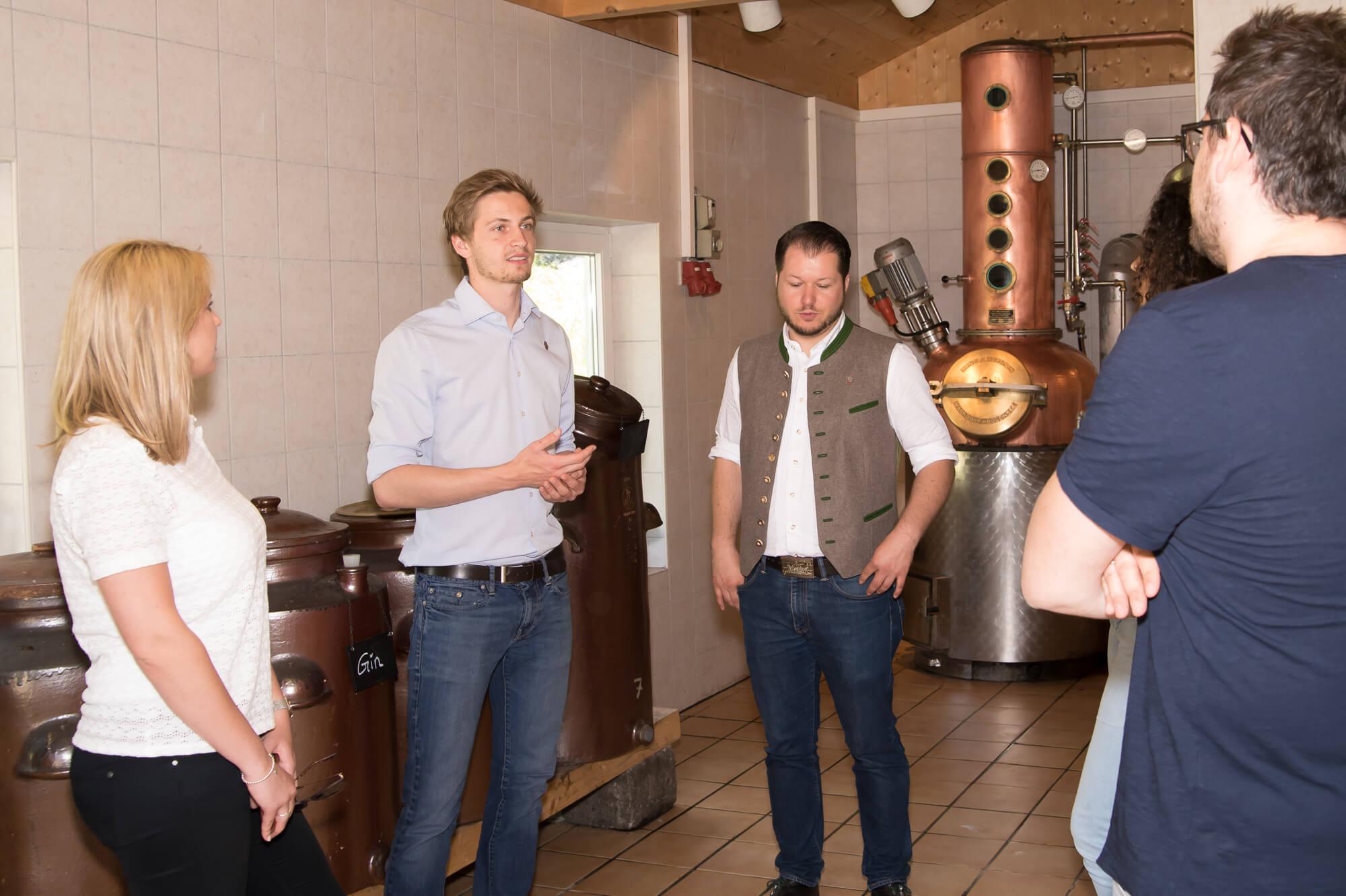 Brennereiführung in der Destillerie Schnitzer
