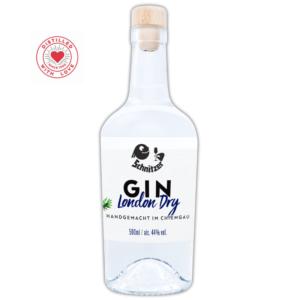 Chiemgauer Gin Frontansicht 500ml Destillerie Schnitzer