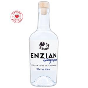 Chiemgauer Enzian Frontansicht 500ml Destillerie Schnitzer