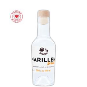 Chiemgauer Marillenbrand 200ml Frontansicht Destillerie Schnitzer