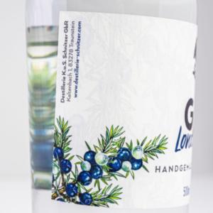 Chiemgauer Gin London Dry 500ml Etikett seitlich 1 Destillerie Schnitzer