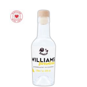 Chiemgauer Williams-Birnenbrand 200ml Frontansicht Destillerie Schnitzer