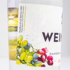 Weinhefebrand 500ml Detailfoto Etikett2 Destillerie Schnitzer