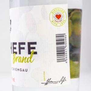 Weinhefebrand 500ml Detailfoto Etikett1 Destillerie Schnitzer