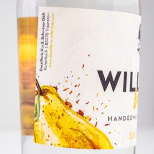 Williams-Birnenbrand 500ml Detailfoto Etikett2 Destillerie Schnitzer
