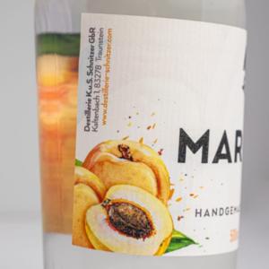 Marillenbrand 500ml Detailfoto Etikett2 Destillerie Schnitzer