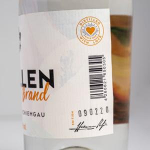 Marillenbrand 500ml Detailfoto Etikett1 Destillerie Schnitzer