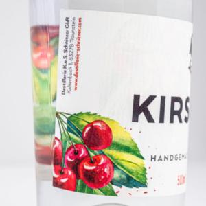 Kirschenbrand 500ml Detailfoto Etikett2 Destillerie Schnitzer