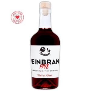 Chiemgauer Weinbrand Frontansicht 500ml Destillerie Schnitzer