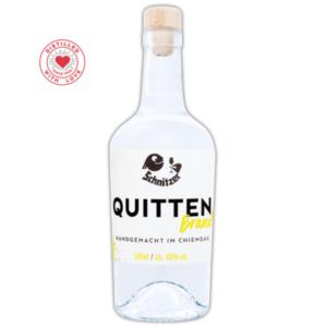 Chiemgauer Quittenbrand Frontansicht 500ml Destillerie Schnitzer