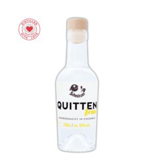 Chiemgauer Quittenbrand 200ml Frontansicht Destillerie Schnitzer