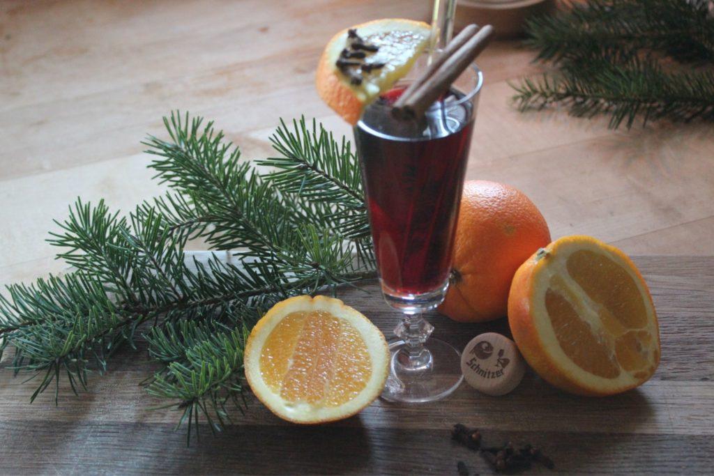 Glüh Gin Rot und fruchtig