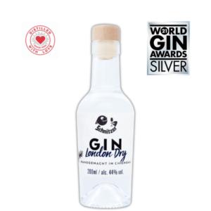 Silver -Chiemgauer Gin Frontansicht 200ml Destillerie Schnitzer